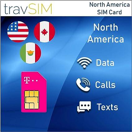 Amazon.com: TravSIM T-Mobile Prepaid USA, Canada & Mexico ...