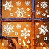 232pcs Winter Christmas Static White Snowflake Decoration Decal Window Clings