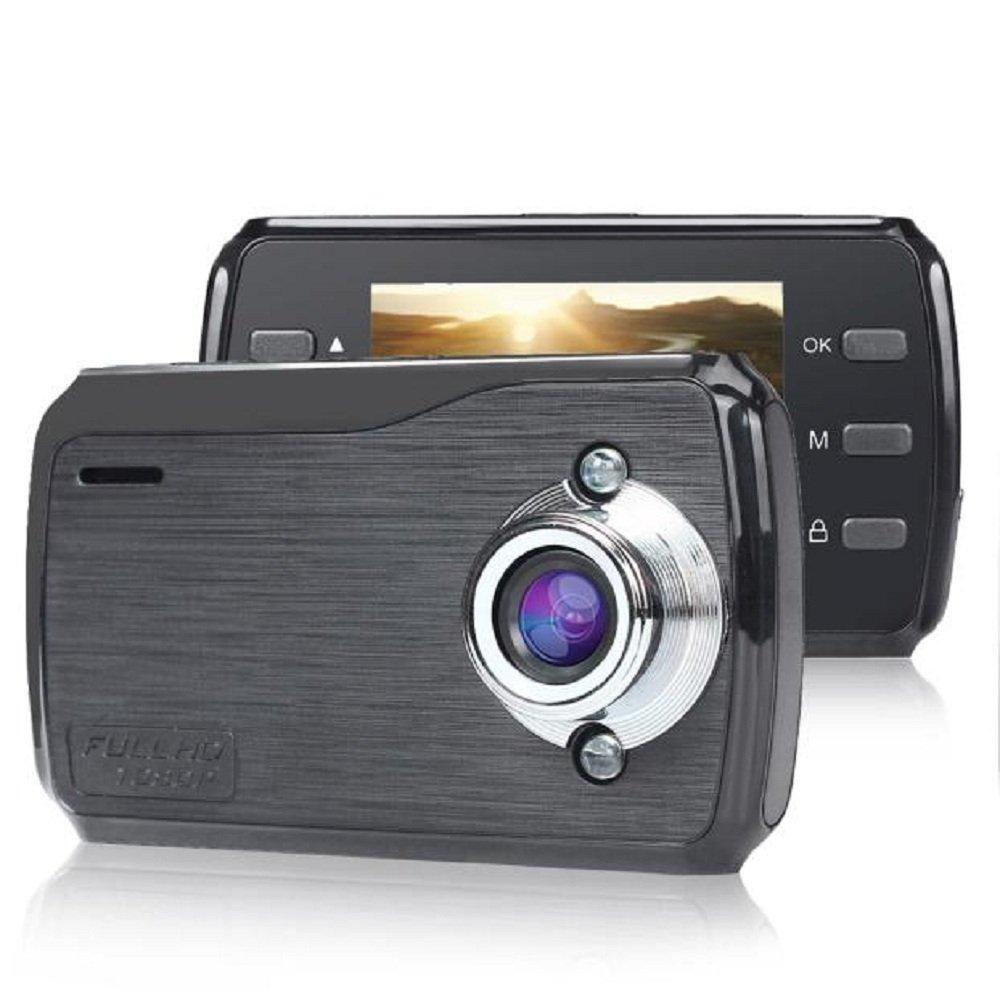 Lonshell 6,1cm schermo Full HD 1080p auto DVR veicolo fotocamera, ultra grandangolare 170° video registratore, cruscotto Cam con visione notturna e G-Sensor (nero) 1cm schermo Full HD 1080p auto DVR veicolo fotocamera TX1