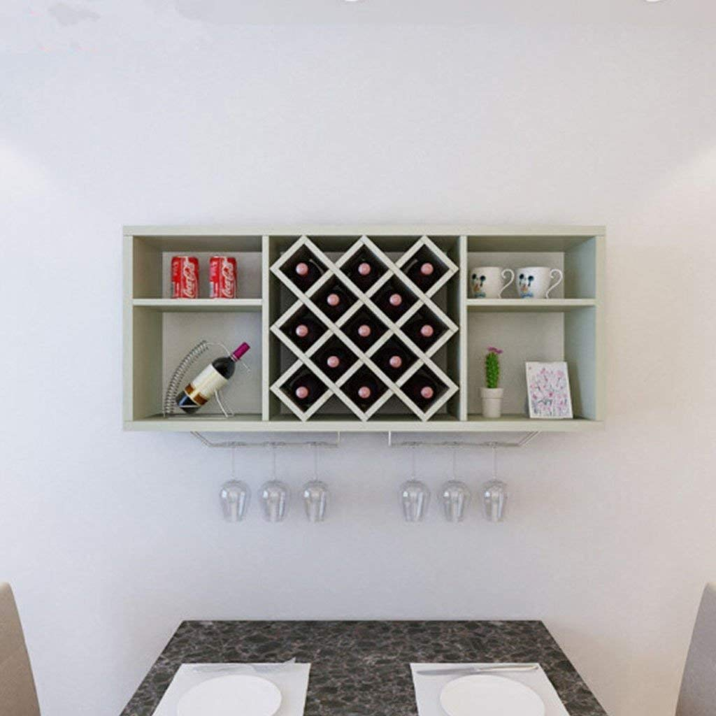 C Red Wine Shelf Modern Minimalist Wall-Mounted Wine Cooler Diamond-Shaped Dining Room Wine Racks Wall Wine Shelves Hanging Wine Racks Wine Cabinets (Size   E) (Size   D)
