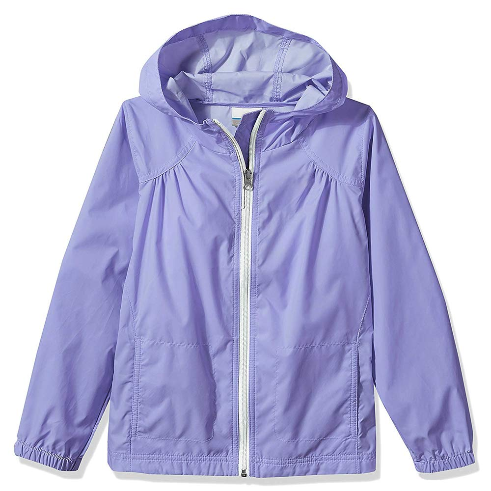Sobrisah Girls' Zipper Lightweight Waterproof Windproof Rain Jacket Hoodies with Pockets