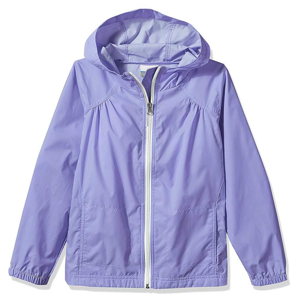 Girl's Switchback Light Rain Coat Hoodie Jacket Fairytale Light Purple Size L
