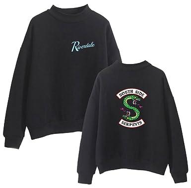 OLIPHEE Herren Sweatshirt mit Drucken auf Riverdale Southside Serpents  Unisex Rollkragenpullover Hoodie  Amazon.de  Bekleidung d3ea62d737