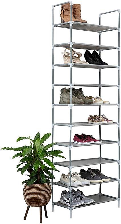grau, 178x100x29,5 cm Schuhst/änder H/öhenverstellbar Wasserfest IVOL Deluxe Schuhregal XXL Schuhablage f/ür 50 Paar Schuhe Schuhschrank mit 10 Ebenen HxBxT