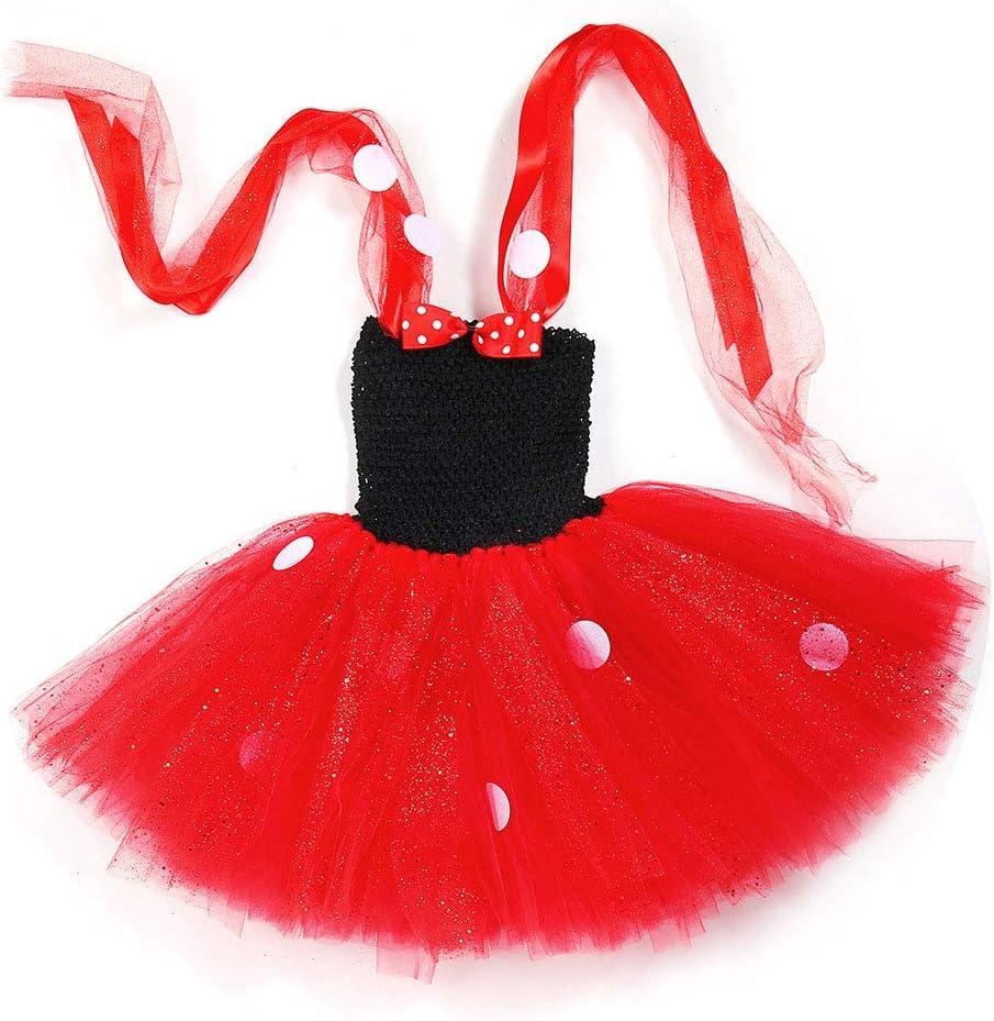 QYS Niñas Lunares cumpleaños Princesa Bowknot Tutu Vestido ...