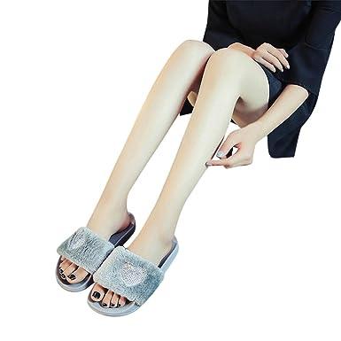 Sandalias Mujer Chancleta Verano Crochet Bohemia Estilo Antideslizante Moda Cómodos Casual Zapatos Chanclas Playa Zapatillas de Suela Gruesa YiYLinneo: ...