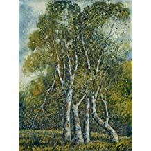 'Ola Alice Forbes Wickham,Young Cottonwoods,1940' Oil Painting, 16x21 Inch / 41x54 Cm ,printed On Perfect Effect Canvas ,this Vivid Art Decorative Prints On Canvas Is Perfectly Suitalbe For Foyer Artwork And Home Artwork And Gifts