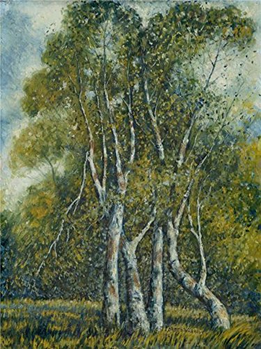 Oil Painting 'Ola Alice Forbes Wickham,Young Cottonwoods,1940' 18 x 24 inch / 46 x 61 cm , on High Definition HD canvas prints is for Gifts And Bath Room, Bed Room And Living Room Decoration
