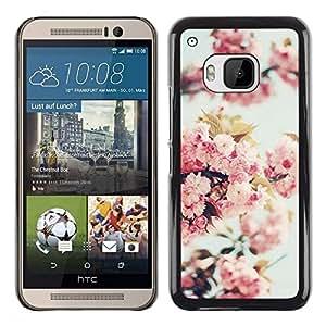 Be Good Phone Accessory // Dura Cáscara cubierta Protectora Caso Carcasa Funda de Protección para HTC One M9 // Apple Blossom Tree Spring Nature Bloom