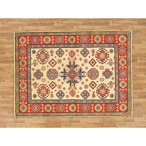 Oriental Hand Knotted 5 X 7 Wool Pakistani Kazak Rug