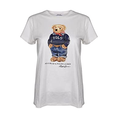 Polo Ralph Lauren Womens Limited Polo Bear T-Shirt (White/Jeans \u0026 Sweater