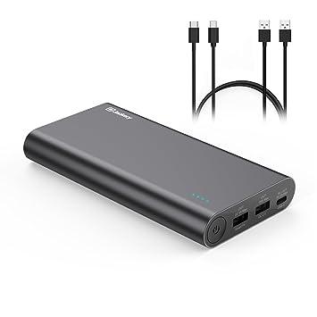 [Type-C & QC2.0] Jackery Titan S -Qualcomm QC2.0 20100mAh 18W 3 ports Cargador Portátil Móvil Batería Externa Power Bank (Célula Litio Panasonic) para ...