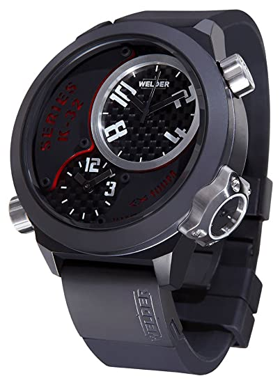 Welder by U-Boat K32 Oversize Triple Time Zone Black Ion-Plated Steel Mens Watch K32-9201: Amazon.es: Relojes