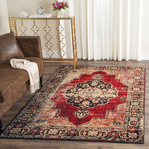 Safavieh Vintage Hamadan Collection VTH219A Oriental Antiqued Red and Multi Area Rug (4