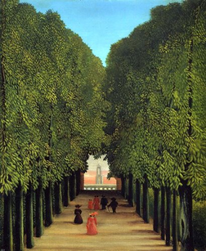 "Henri Rousseau The Avenue in the Park at Saint-Cloud - 20.05"" x 25.05"" Peel & Stick Removable Wall Decal"