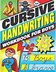 Cursive Handwriting Workbook for Boys: Cursive Letter Tracing Book for Kids that Makes Handwriting Practice Fun with a 3-in1 System with Blank Comic Book Pages