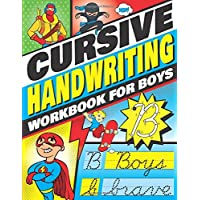 Cursive Handwriting Workbook for Boys: Cursive Letter Tracing Book for Kids that Makes Handwriting Practice Fun with a 3…