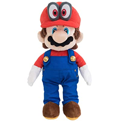 """Little Buddy 1693 Super Mario with Removable Red Cappy Hat (Odyssey Style) Plush, 13"""": Toys & Games"""