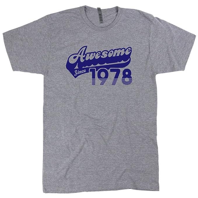 Amazon.com: shirtmandude Camisetas Awesome desde 1978 T ...