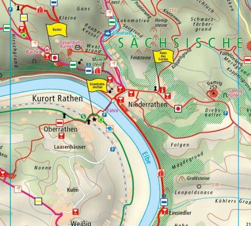 Nationalparkregion Sachsische Schweiz Wanderkarte Mit Malerweg