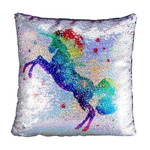 Unicorn Pillow, Sequin Pillow Decorative Pillows, 16