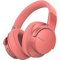 Mixcder E7 Noise Cancelling Kopfhörer, Bluetooth Kopfhörer Over Ear mit Eingebauten Mikrofon, Wirelss Kopfhörer Bluetooth 5.0 Duale 40mm, 30 Stunden Spielzeit, Hi-Fi Stereo Bass (Coral Orange)