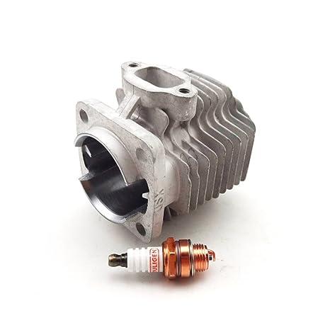 tc-motor 44 mm cilindro cabeza + Bujía Para Motor de 2 tiempos 49 cc