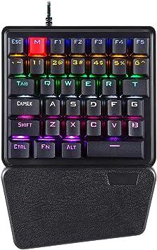 Zhhlaixing Teclado de Juego Programable Mecánico RGB 36 ...