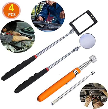 FIT TOOLS Handy Pocket Clip 1.5 Telescopic Inspection Mirror