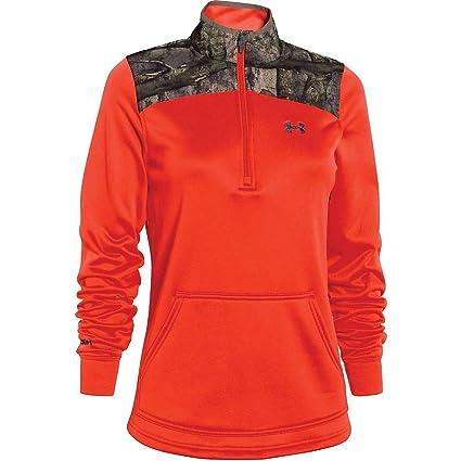 Under Armour Caliber 1/2 Zip Top - Women's Dark Orange / Mossy Oak Treestand