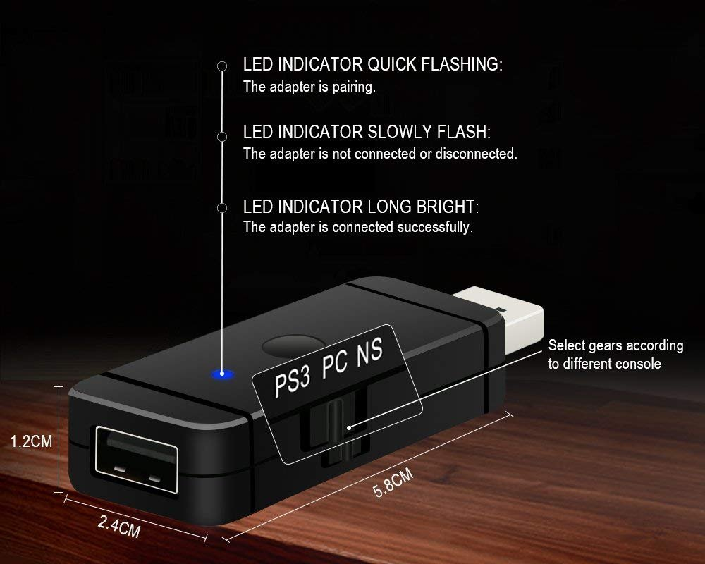 LREGO Magic-NS Wired or Wireless PS4 /PS3 /Xbox One/Xbox 360/Will U ...