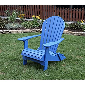 bluepoly lumber folding adirondack chair with rolled seating heavy duty everlasting lifetime polytuf hdpe