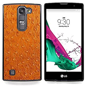 """Qstar Arte & diseño plástico duro Fundas Cover Cubre Hard Case Cover para LG G4c Curve H522Y ( G4 MINI , NOT FOR LG G4 ) (Imitación de cuero marrón de imitación de piel Tela Arte"""")"""