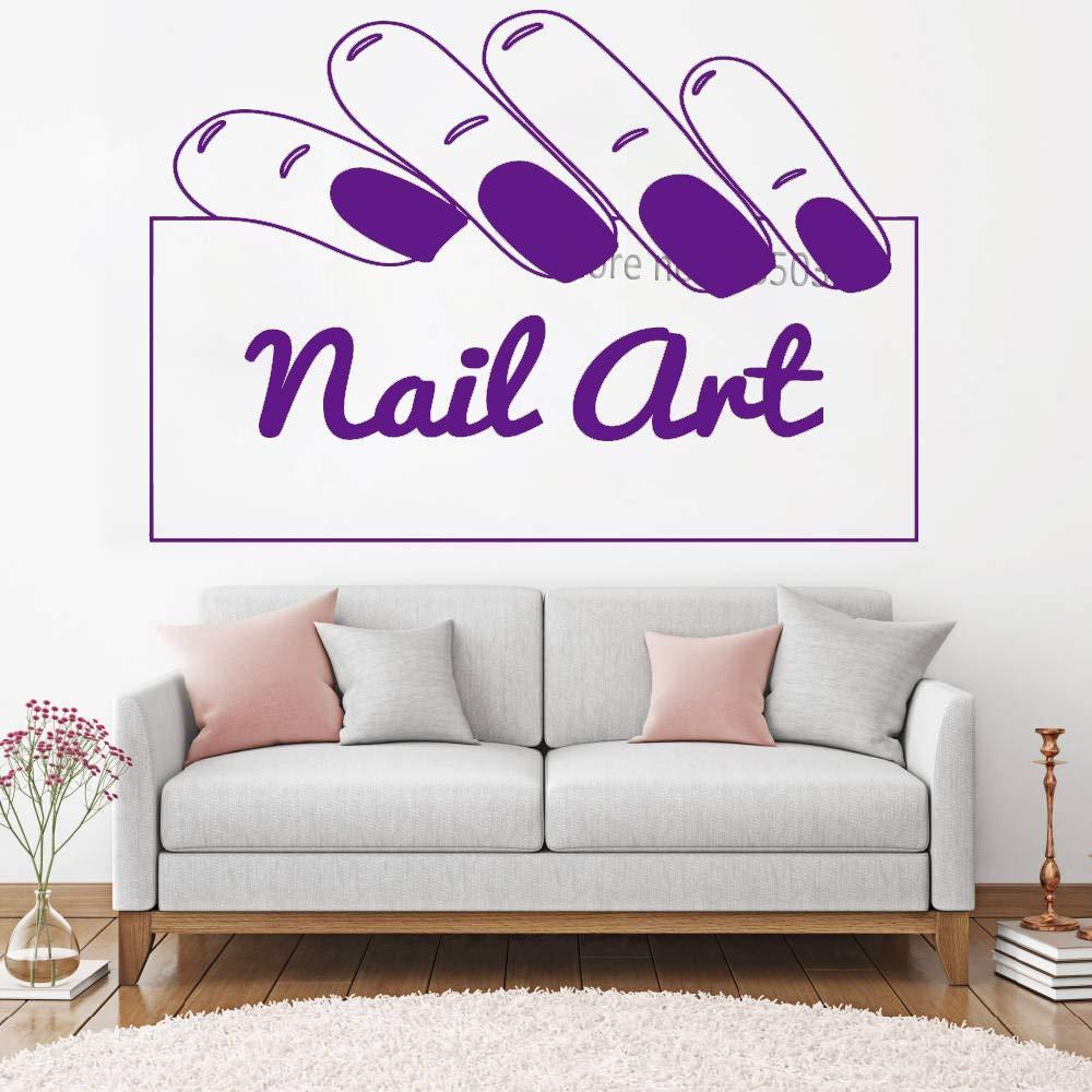 zqyjhkou Nail Art Signage Wall Decal Salon de uñas Tienda ...
