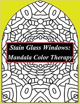 amazon com stain glass windows mandala color therapy anti stress