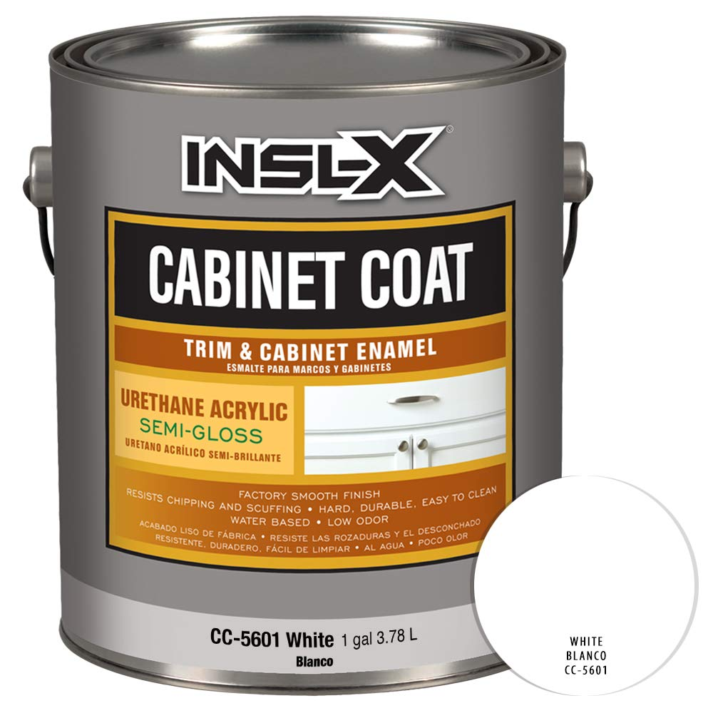 Amazon.com: INSL-X CC560109A-01 Cabinet Coat Enamel, Semi-Gloss Paint 1 Gallon White: Home Improvement