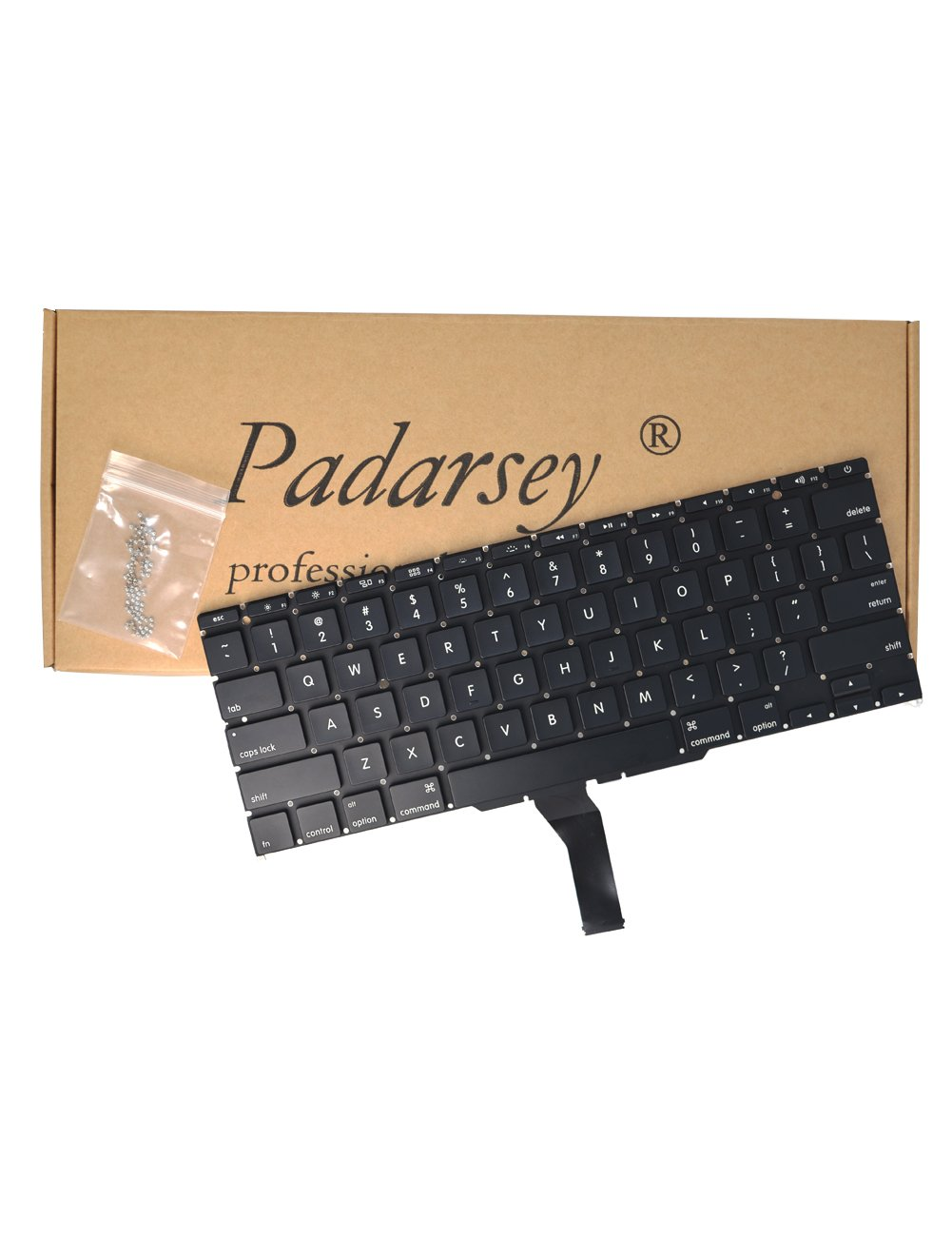 Padarsey New Laptop Black US Keyboard fits For Macbook Air A1370 A1465 11-Inch 2011 2012 2013 2014 2015 MD711 MD712 MD223 MD224 MC968 MC969