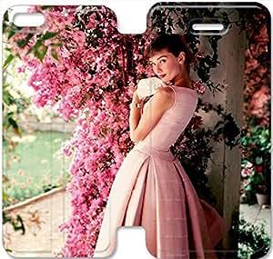 iphone 5C Flip Leather Phone Case Audrey Hepburn TY1OR3229381