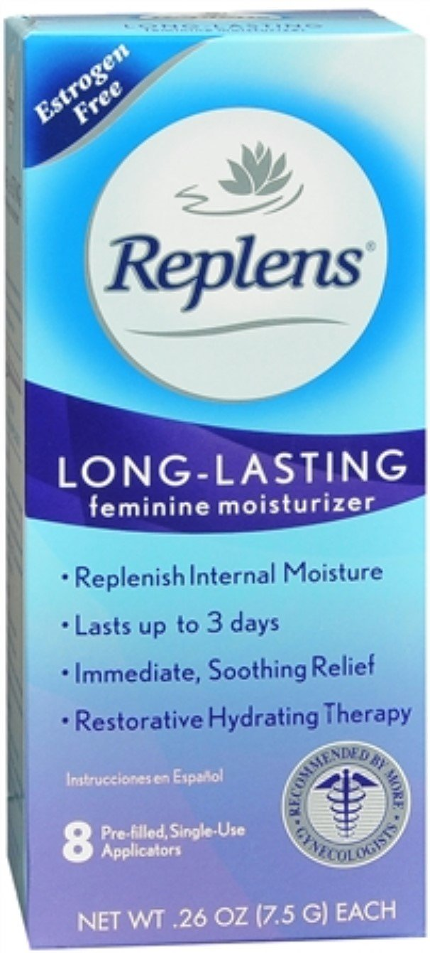 Replens Vaginal Moisturizer With Pre-Filled Applicators 8 Each (Pack of 12)