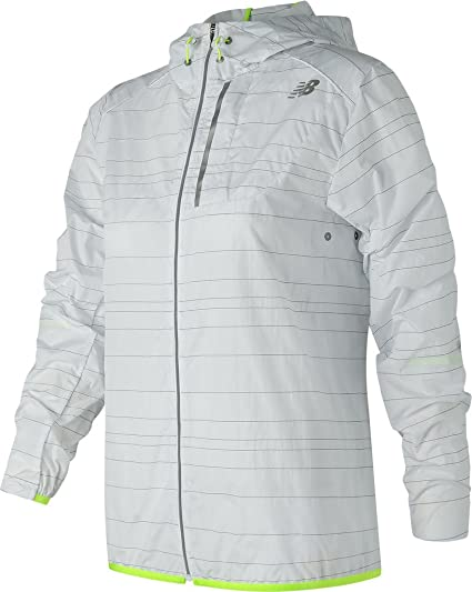 a3534495f164a New Balance Women's Reflective Lite Packable Jacket, White, X-Small