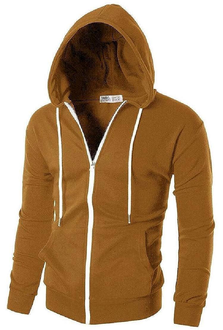 WSPLYSPJY Mens Athletic Zipper Hoodies Lightweight Zip Up Hooded Sweatshirt Active Sportwear