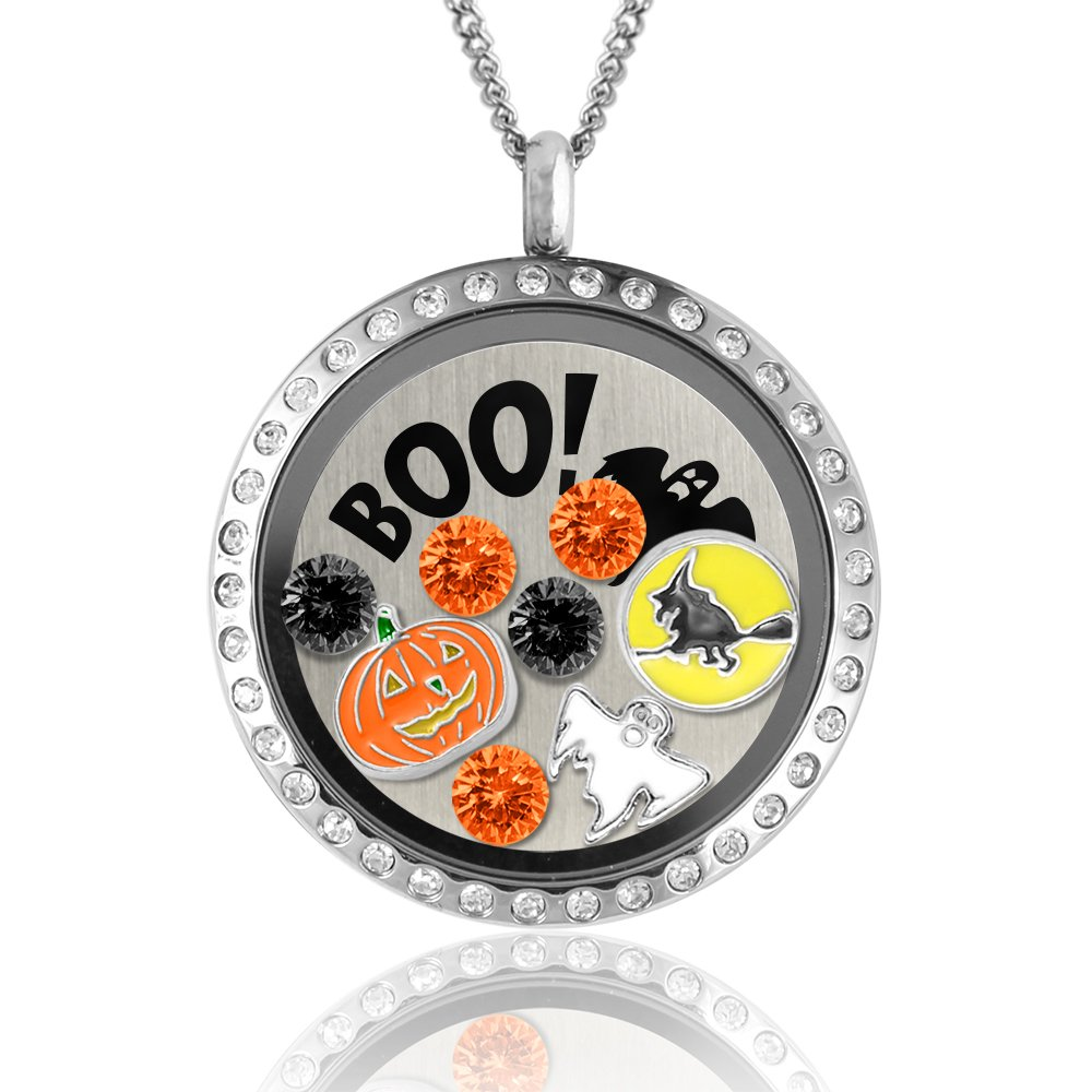 Halloween Gifts! Scary Bestie Gifts On Halloween! Floating Charms Memory Lock.. 10