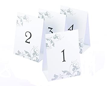 Hortense B Hewitt Wedding Accessories Tent Style Table Numbers 1 Through 40 Black Ink
