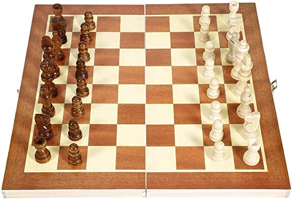 Juegos tradicionales Ajedrez Juego de ajedrez internacional de madera plegable Juego de piezas Juego de mesa Colección de piezas de ajedrez Ajedrez portátil Juego de damas Juegos de viaje Juegos de me: