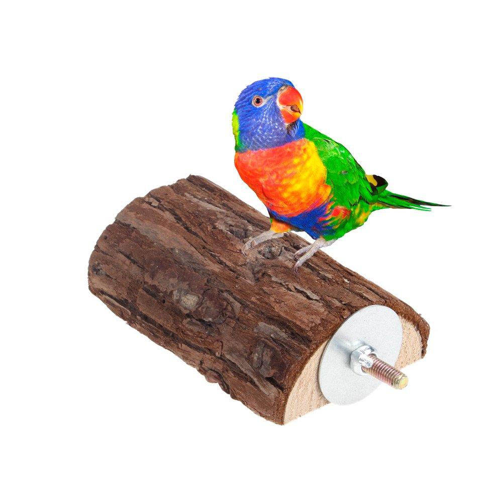 dairyshop Pet Parrot Vogelkäfig Sitzstangen aus Holz Ständer Plattform Sittich Wellensittich Ratten Spielen Spielzeug