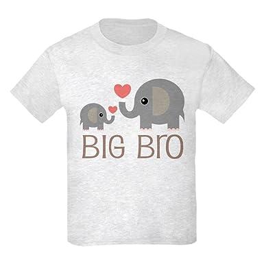 f5286bce1845f CafePress - Big Bro Elephant Sibling T-Shirt - Kids Cotton T-Shirt Ash