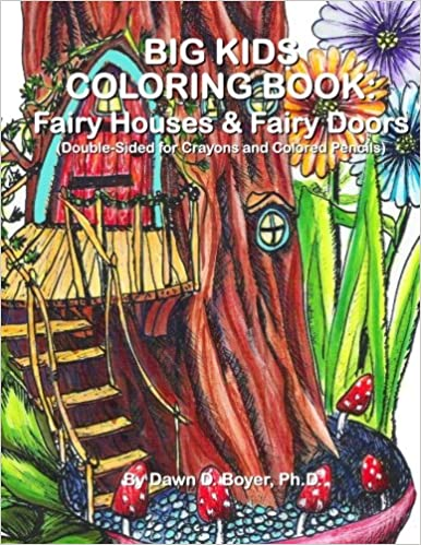 Amazon.com: Big Kids Coloring Book: Fairy Houses and Fairy Doors ...