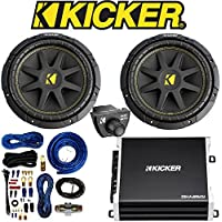 Kicker D-Series 250-Watt Monoblock Class D Subwoofer Amplifier/ Kicker 43CXARC Bass Remote Control for KICKER CXA-Series/PXA-Serie/CX-Series Car Subwoofers Totaling 600 Watt With Single Voice Coil