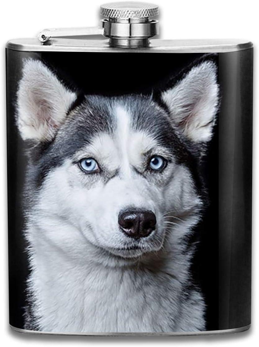 Husky Flagón de perro botella de vino de acero inoxidable y ...