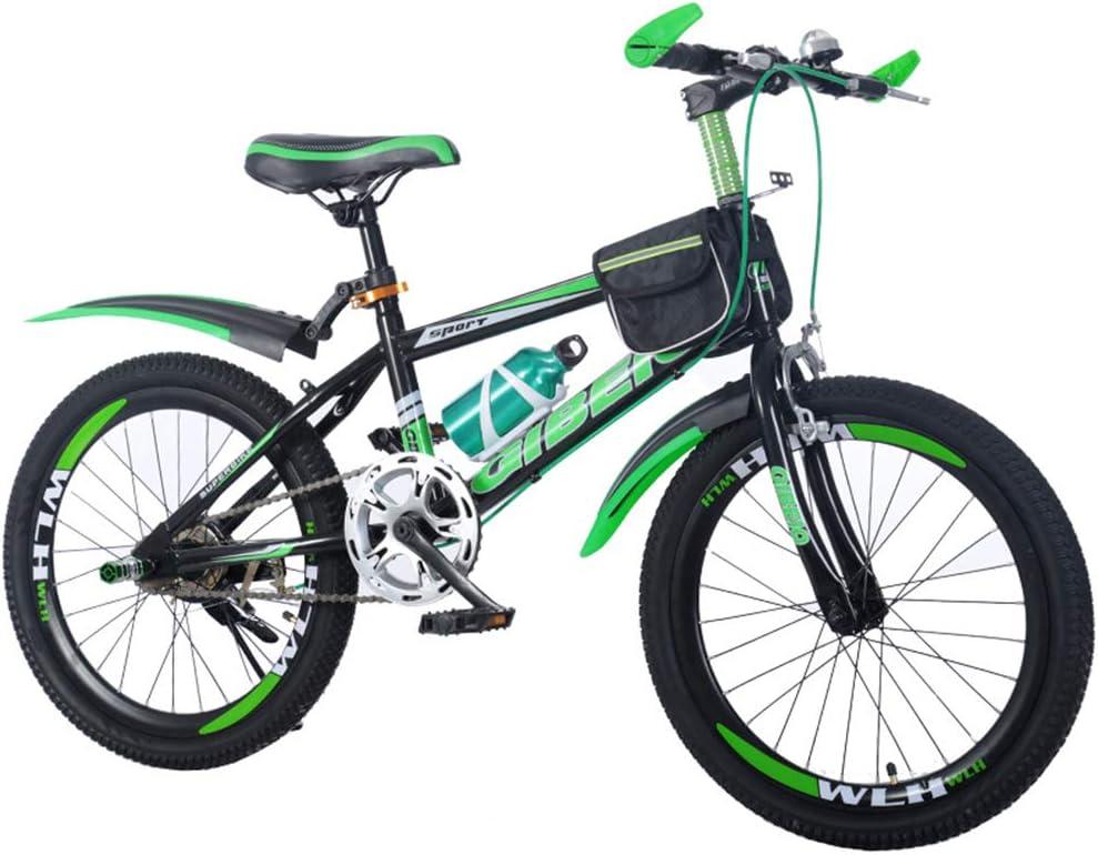 SJSF Y Bicicleta Infantil Niños Y Niñas De 8-9-10-14 Años Frenos De Disco De 22 Pulgadas Niños En Bicicleta De Montaña,Blackgreen